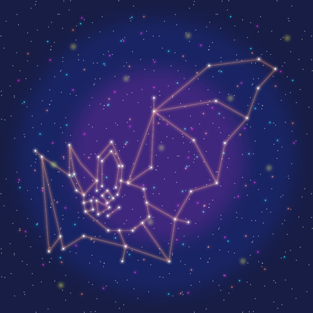 asterism: asterism design orange bat