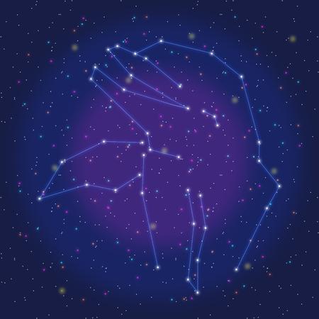 asterism: asterism design blue dolphin Illustration