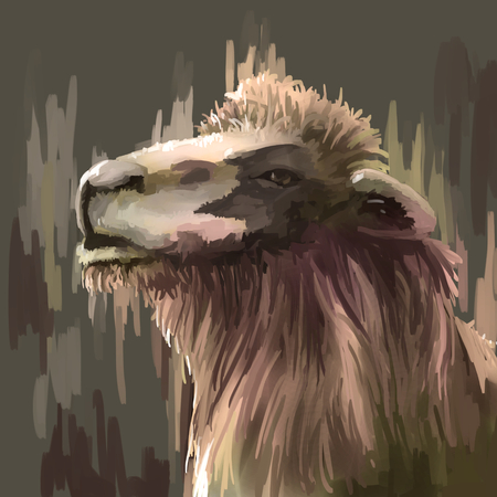 digital painting: illustration digital painting animal camel
