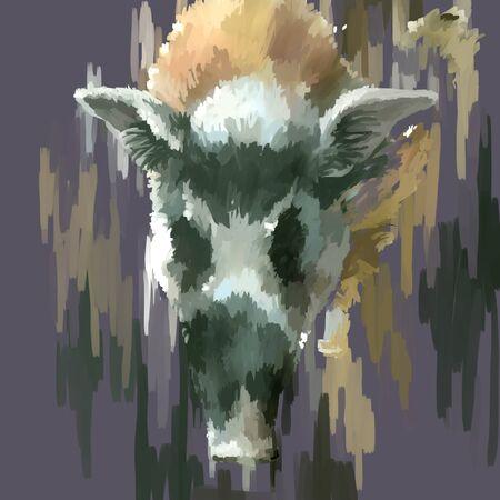 jabali: Ilustración digital de la pintura de cerdo de animales salvajes
