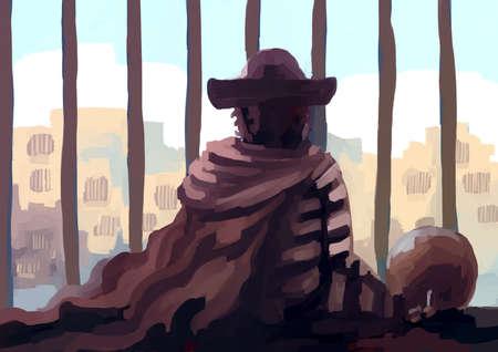 prisoner: illustration digital painting prisoner