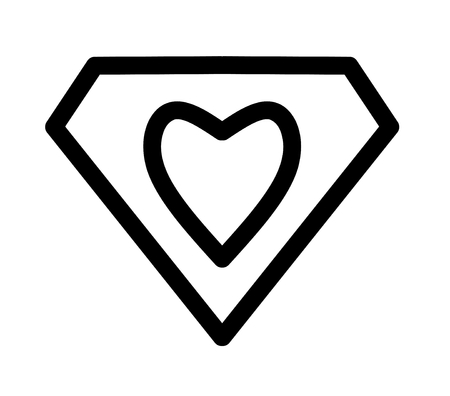 diamond heart: drawing diamond heart Stock Photo