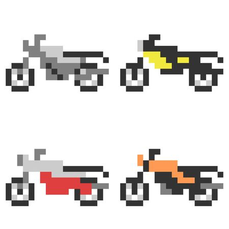 Pixel Art Motorcycle Stock Photo Picture And Royalty Free