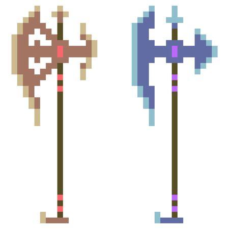 halberd: pixel art halberd