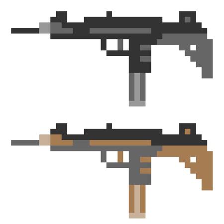 mercenary: pixel art gun Stock Photo