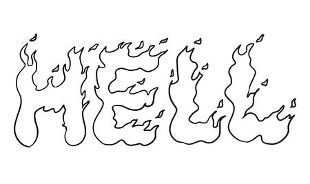 infierno: dibujar texto diablos arte