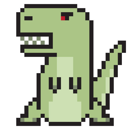 tyranosaurus: illustration design pixel art tyranosaurus Stock Photo