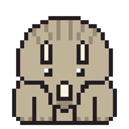 triceratops: illustration design pixel art triceratops