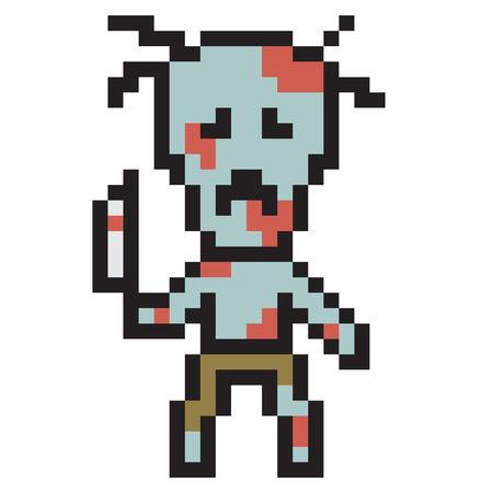 murderer: illustration design pixel art zombie Stock Photo