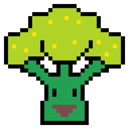 cauliflower: pixel art cauliflower