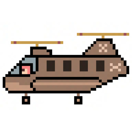 chinook: pixel art helicopter chinook