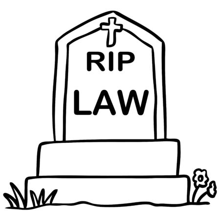 grave: word cartoon grave law