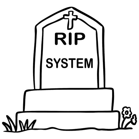 grave: word cartoon grave system