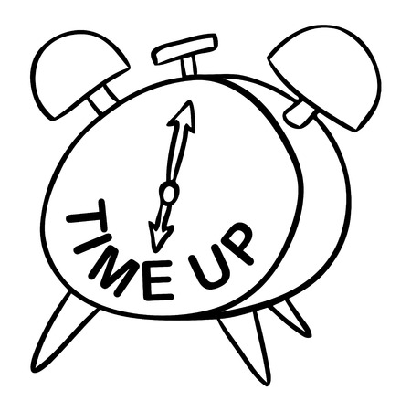 up time: word cartoon time up