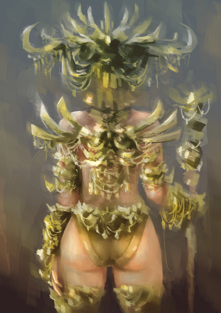 woman painting fantasy sexy Imagens