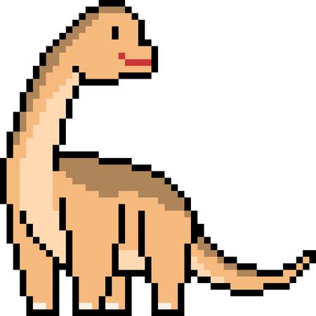 vector pixel art brachiosaurus dinoasur