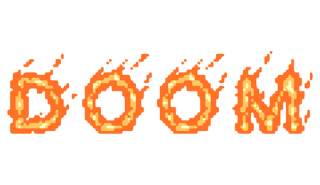 vector isolated typeface design doom