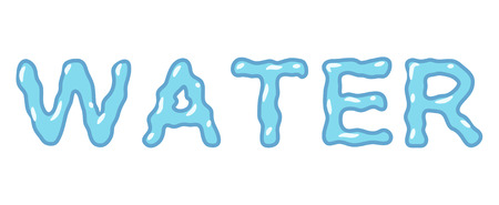 vector isolated typeface design water