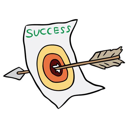 Vector cartoon arrow target isolated Illustration