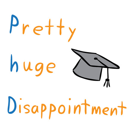 Vektor Cartoon Phd Hut Grad