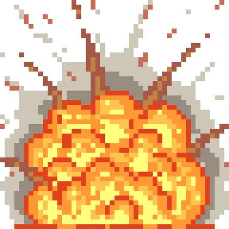 nuke: vector pixel art blast isolated