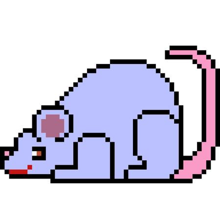 Pixel kunst rat illustratie.
