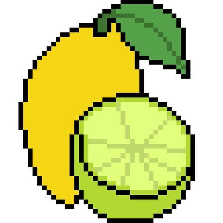 vector pixel art fruit isolated