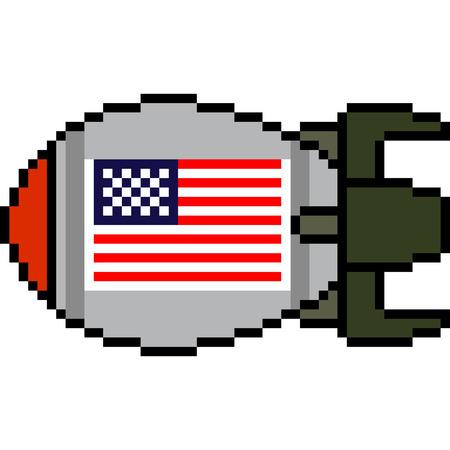 벡터 픽셀 아트 핵 미사일 절연