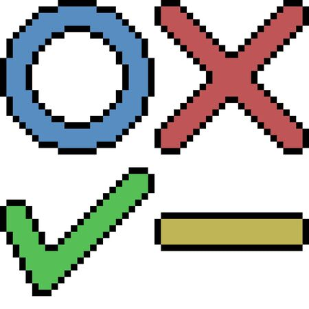 vector pixel art sign symbol isolated