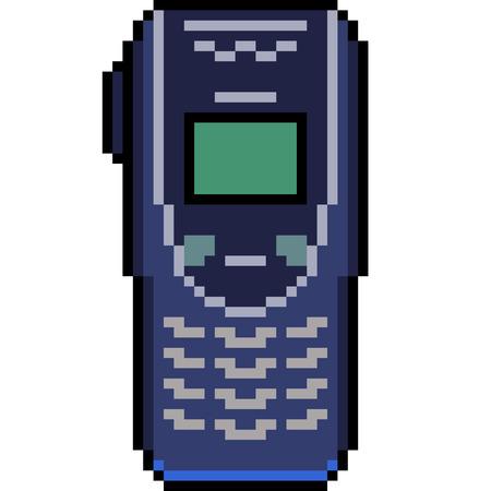 고립 된 벡터 픽셀 아트 오래 된 휴대 전화