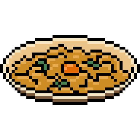 Pixel art food omelette