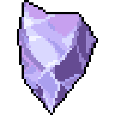 vector pixel art gemstone isolated cartoon