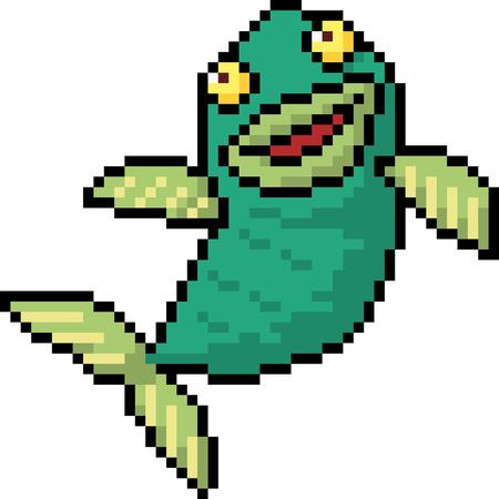 Pixel art fish icon