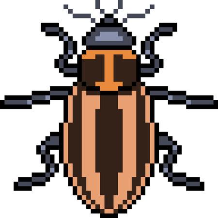 Vektor Pixel Kunst Käfer isoliert Cartoon
