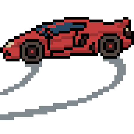 vector pixel art sport car isolated cartoon 版權商用圖片 - 103961397