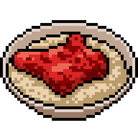 vector pixel art food isolated cartoon Illustration