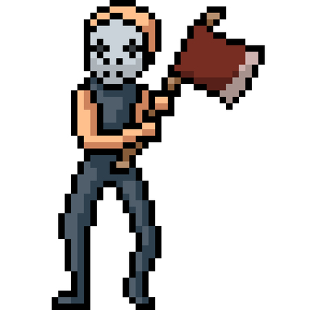 vector pixel art murder isolated cartoon
