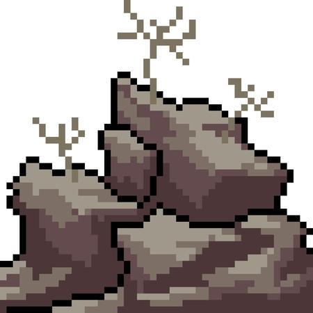vector pixel art drought isolated cartoon Ilustrace