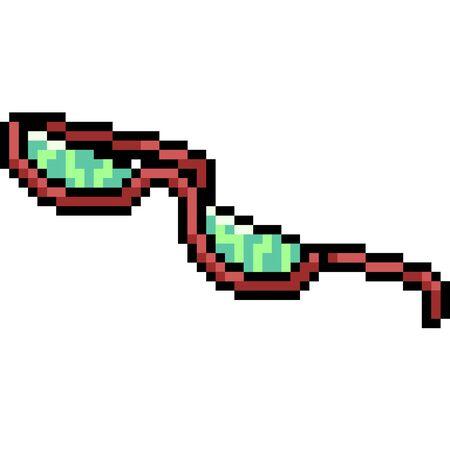 vector pixel art fashion glasses isolated cartoon