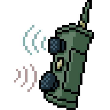 vector pixel art communication isolated cartoon
