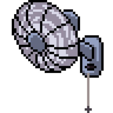 vector pixel art wall fan isolated cartoon