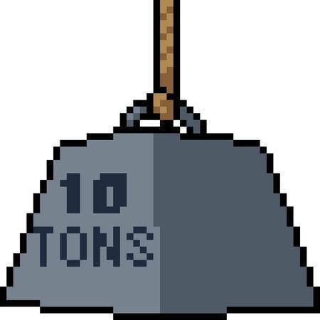 vector pixel art ton weight isolated cartoon Çizim