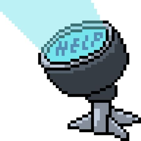 vector pixel art spotlight isolated cartoon