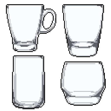 pixel art of set of glasses 矢量图像