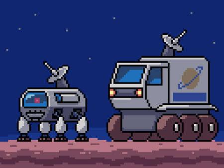 pixel art of mar survey vehicle