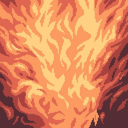 pixel art fire abstract background 矢量图像