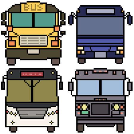 pixel art of bus front view