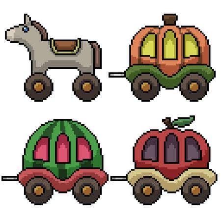 pixel art of fancy carriage toy