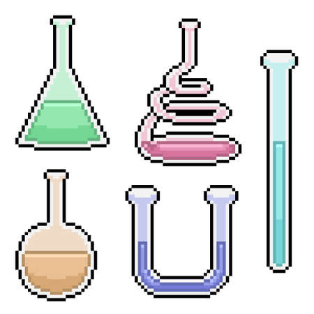 pixel art of science test tube