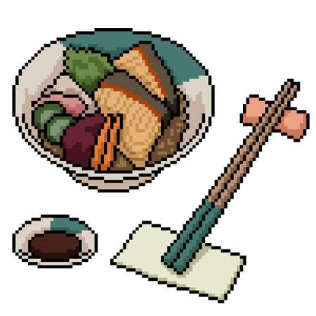 pixel art of japanese bowl food